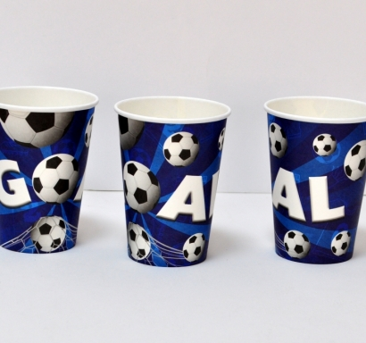 Хартиена парти чашка 270 мл Футбол