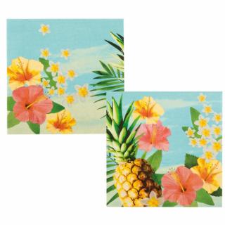 Парти салфетки Хавайско парти / Hawaiian Paradise 33х33 см, 12бр. в пакет /Gd/