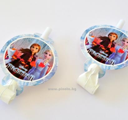 Парти свирки Елза и Ана Замръзналото Кралство 2, 6 бр. в пакет, лицензирани Дисни