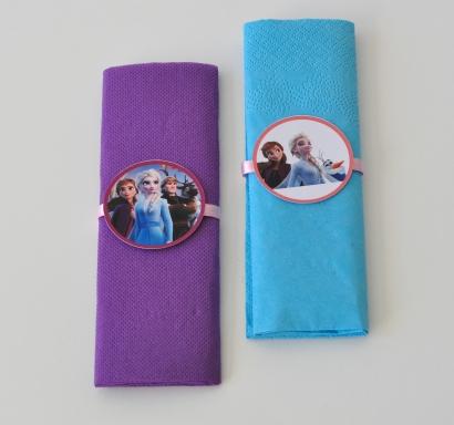 Парти салфетки Замръзналото Кралство 2 Елза и Ана 33х33 см, 5 бр. пакет