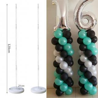 Стойка за балони тип колона, височина 120 см,  с включени  5 бр. клипсове и 1 държач за фолиев балон