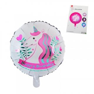 Фолиев балон Еднорог, 45х45 см