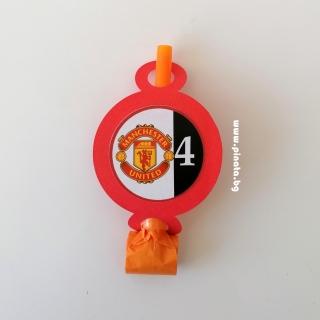 Персонализирана парти свирка Манчестър Юнайтед