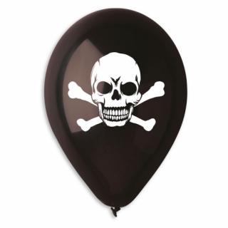 Балон Череп, пиратско парти / Skull, Pirate - 30 см диаметър, 5 бр. в опаковка,  /Gd/