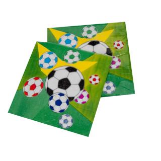 Парти салфетки Футбол, топка 33х33 см