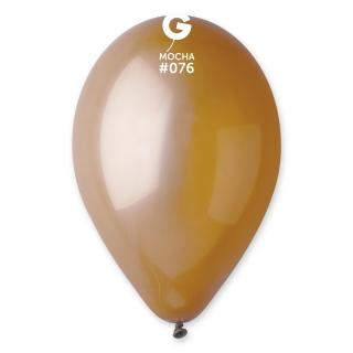 Балон  цвят мока капучино пастел, диаметър 26 см, 10 бр. в пакет Gemar Италия