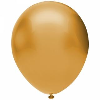 Балон златно металик, диаметър 30 см, 10 бр. в пакет