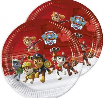 Хартиена парти чинийка Пес Патрул 23 см, 8 бр. в опаковка лиценз