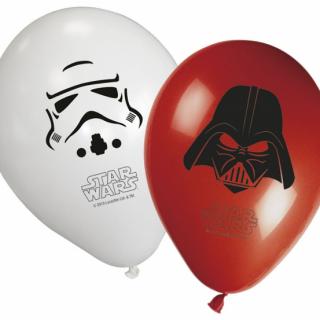 Комплект латексови балони Междузвездни войни / Star Wars, 30 см диаметър, 8 бр. в опаковка, микс цветове /Gd/