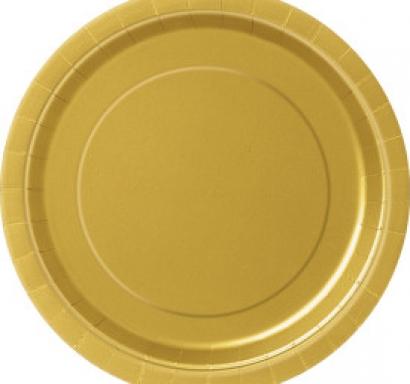 Хартиена парти чинийка златна, 23 см