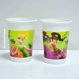 Пластмасова парти чашка Тинкърбел Камбанка 200 мл, лицензирана