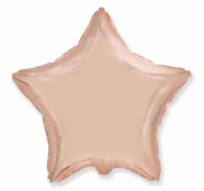 Фолиев балон Звезда цвят розово злато 45 см Flexmetal /Gd/