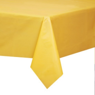 Покривка за еднократна употреба, жълта 137х274 см