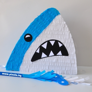 Пинята фигура Риба Акула, 40х45 см