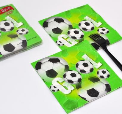 Парти салфетки Футбол 33х33 см лицензирани